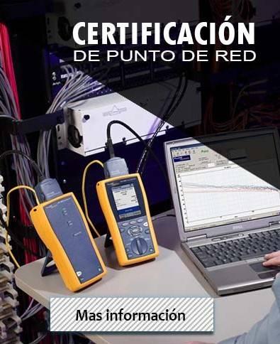 certificación de puntos de red